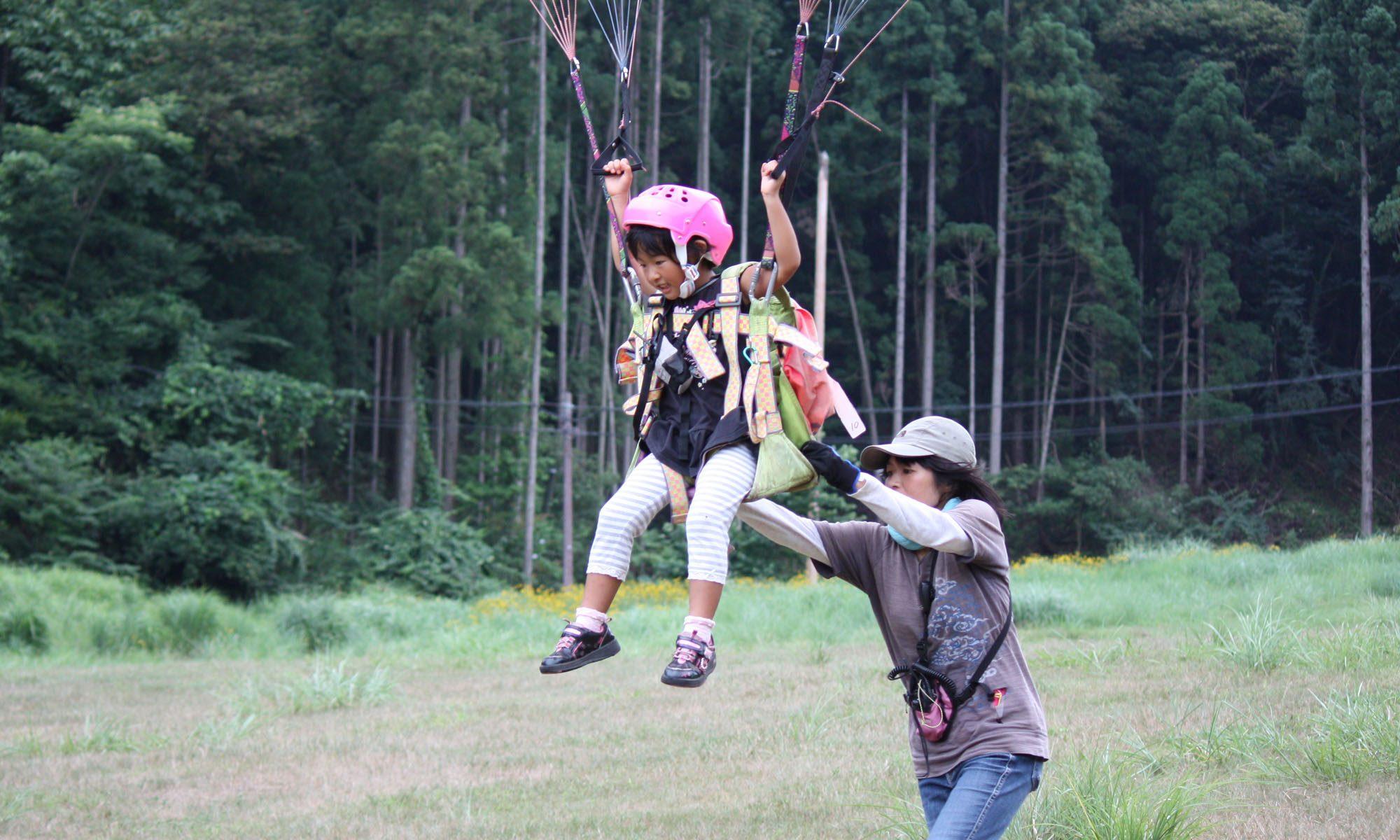 神鍋高原でパラグライダー体験飛行 開校中!!